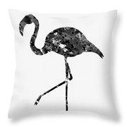 Flamingo-black Throw Pillow