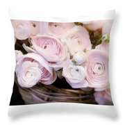 Flower With Painting. Throw Pillow