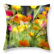 Flowering Garden Throw Pillow