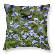 Flowers Throw Pillow