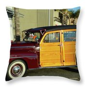 Ford California Woody Station Wagon Throw Pillow