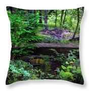 Forest Environment Throw Pillow by Richard J Thompson