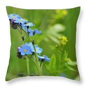 Forget-me-not. Throw Pillow