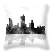 Fort Worth Texas  Skyline Throw Pillow