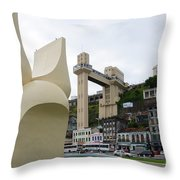 Fountain Of The Market Ramp By Mario Cravo Throw Pillow