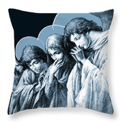 Four Angels Throw Pillow