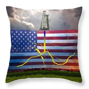 Fracking In The U.s Throw Pillow