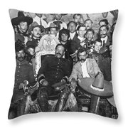 Francisco Pancho Villa Throw Pillow by Granger