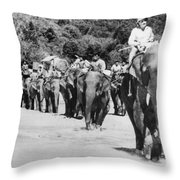 Frank Buck (1884-1950) Throw Pillow