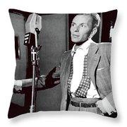 Frank Sinatra William Gottlieb Photo Liederkranz Hall New York City 1947-2015 Throw Pillow
