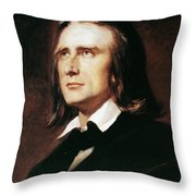 Franz Liszt (1811-1886) Throw Pillow
