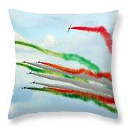 Frecce Tricolori Throw Pillow