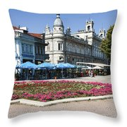 Freedom Square, Ruse, Bulgaria Throw Pillow