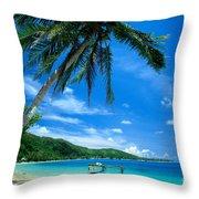 French Polynesia, Huahine Throw Pillow