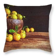 Fresh Kumquat Fruits Throw Pillow