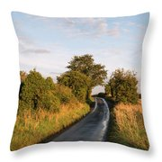 Freshly Harvested Fields Of Barley In Countryside Landscape Bath Throw Pillow