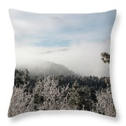 Frosty Pikes Peak Throw Pillow