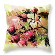 Fruit Of The Wild Rose Throw Pillow