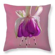 Fuschia Petals Throw Pillow