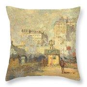 Gare Saint Lazare Throw Pillow