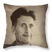 George Orwell 2 Throw Pillow