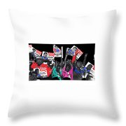 George Wallace For President Supporters Democratic Nat'l Convention Miami Beach Florida 1972-2013 Throw Pillow