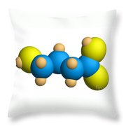 Ghb Molecular Model Throw Pillow