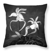 Ghost Orchids Throw Pillow