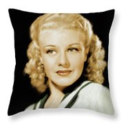 Ginger Rogers, Legend Throw Pillow