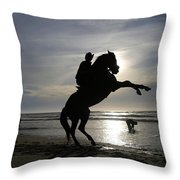 Horseback Riding Throw Pillow