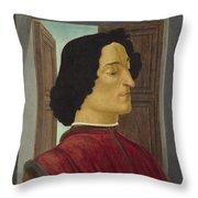 Giuliano De' Medici Throw Pillow