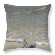 Glass Diamond On The Beach Throw Pillow