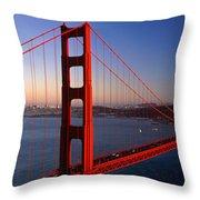 Golden Gate Bridge San Francisco Ca Throw Pillow
