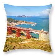 Golden Gate Bridge Vista Point Throw Pillow