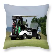 Golfing Golf Cart 04 Throw Pillow