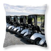 Golfing Golf Carts Throw Pillow