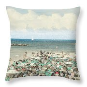 Gordon Beach, Tel Aviv, Israel Throw Pillow