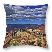 Grand Canyon #  4 - Mather Point Overlook Throw Pillow