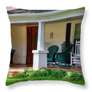 Grand Old House Porch Throw Pillow