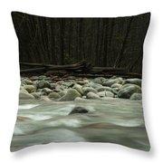 Granite And Water, Lynn Creek Throw Pillow