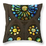 Graphic Art From Photo Library Of Photographic Collection Of Christian Churches Temples Of Place Of  Throw Pillow by Navin Joshi