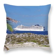 Great Stirrup Cay Throw Pillow