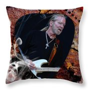 Gregg Allman Art Throw Pillow