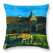 Gripsholm Castle Castle Autumn  Throw Pillow