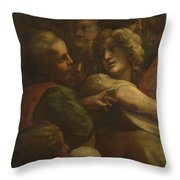 Group Of Heads  Throw Pillow