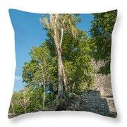 Grupo Coba At The Coba Ruins  Throw Pillow