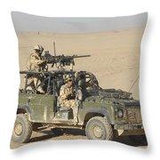 Gurkhas Patrol Afghanistan In A Land Throw Pillow