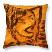 Hair Day - Tile Throw Pillow