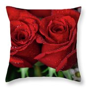 Happy Valentines Day Throw Pillow by Tracy Hall