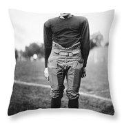 Harold (red) Grange Throw Pillow